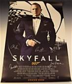 Skyfall Cast Signed Movie Poster