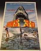 Jaws 1983 Original Movie Poster 3D