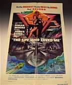1977 Spy Who Love Me 007 Original Movie Poster