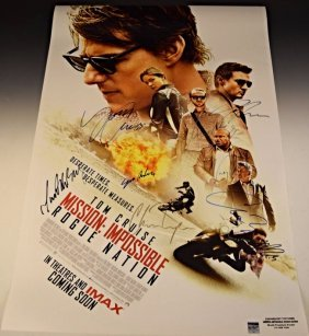 Mission Impossible Rogue Nation Premiere Signed Poster