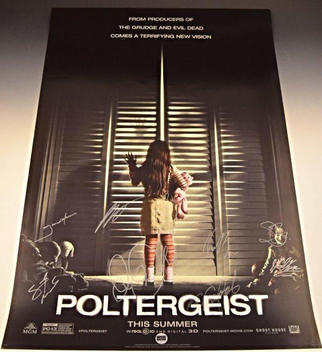 Poltergeist Cast Signed Premiere Movie Poster