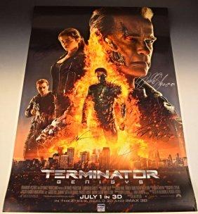 Terminator Cast Signed Premiere Poster