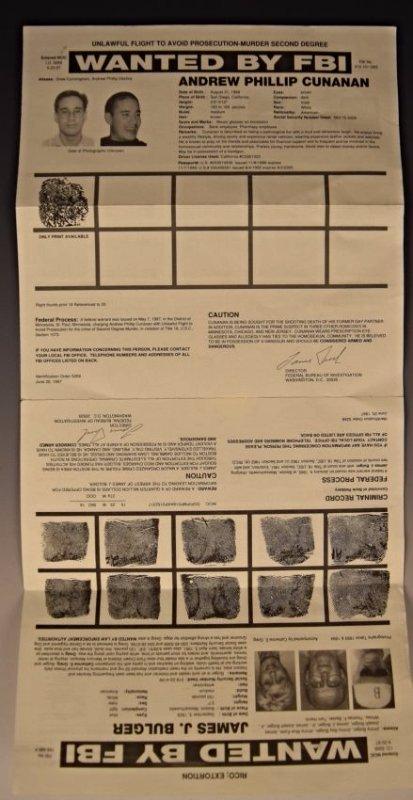 James Whitey Bulger Wanted Poster - 2