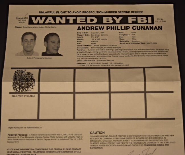James Whitey Bulger Wanted Poster - 3