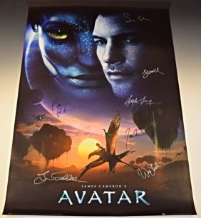 Avatar Cast Signed Movie Poster