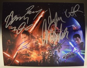 Star Wars The Force Awakens Cast Signed Photo