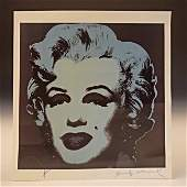 Andy Warhol Marilyn Print Signed