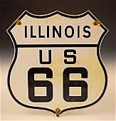 Illinois Vintage Porcelain Sign