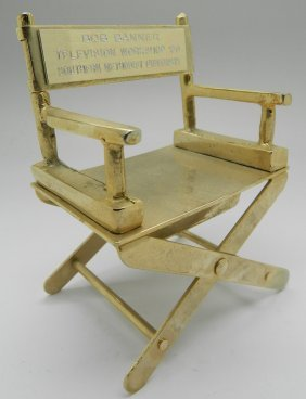 Ray Charles Personal Owned Director Chair