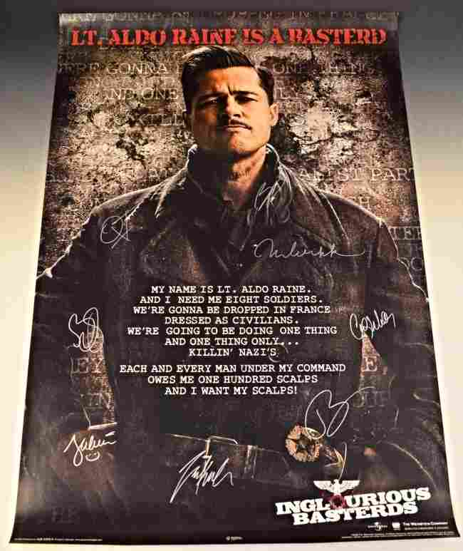 Inglorious Bastards Cast Signed Movie Poster