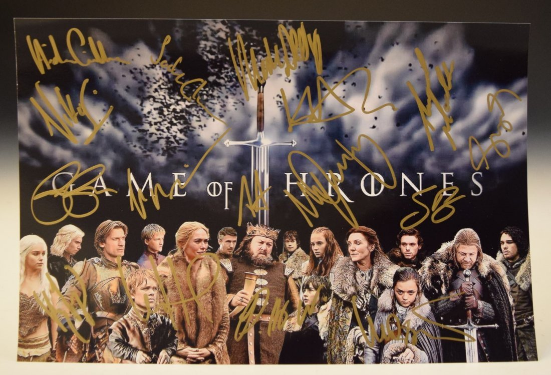 Game Of Thrones Cast Signed Photograph