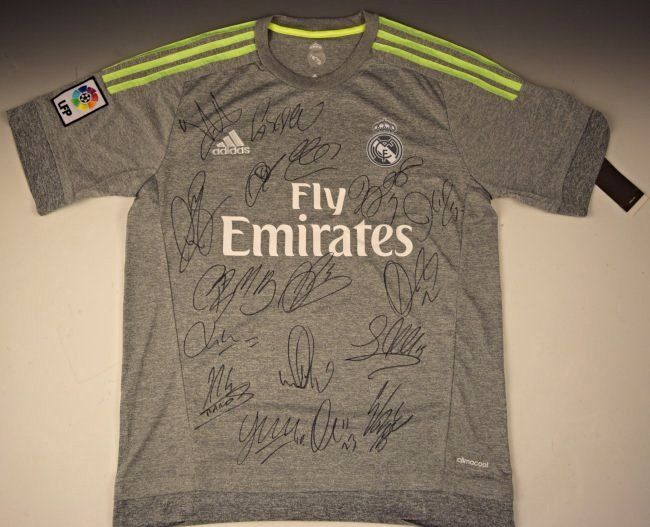Madrid Soccer Jersey Signed