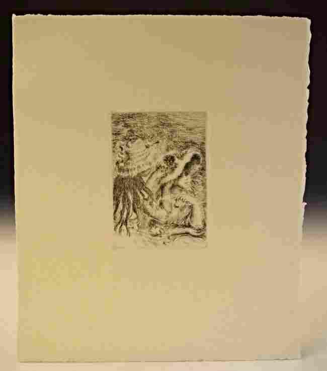 Pierre Auguste Renoir Etching