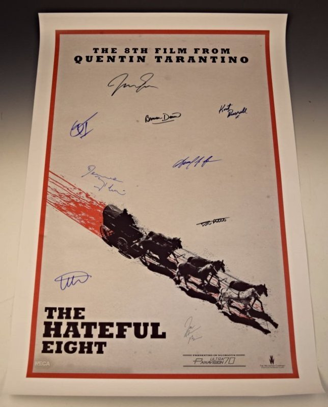The Hateful Eight Cast Signed Movie Poster