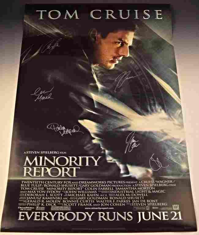 Minority Report Cast Signed Movie Poster