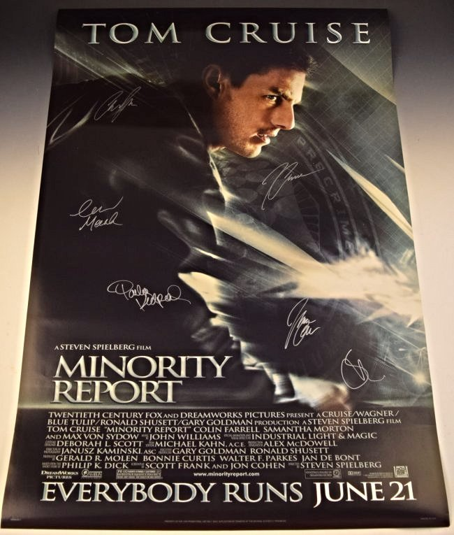 Minority Report Cast Signed Movie Poster