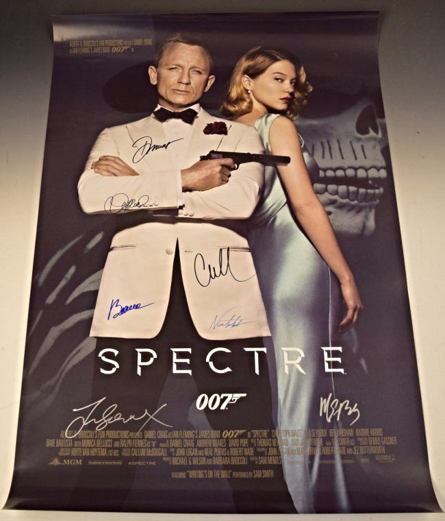 007 Skyfall Cast Signed Movie Poster