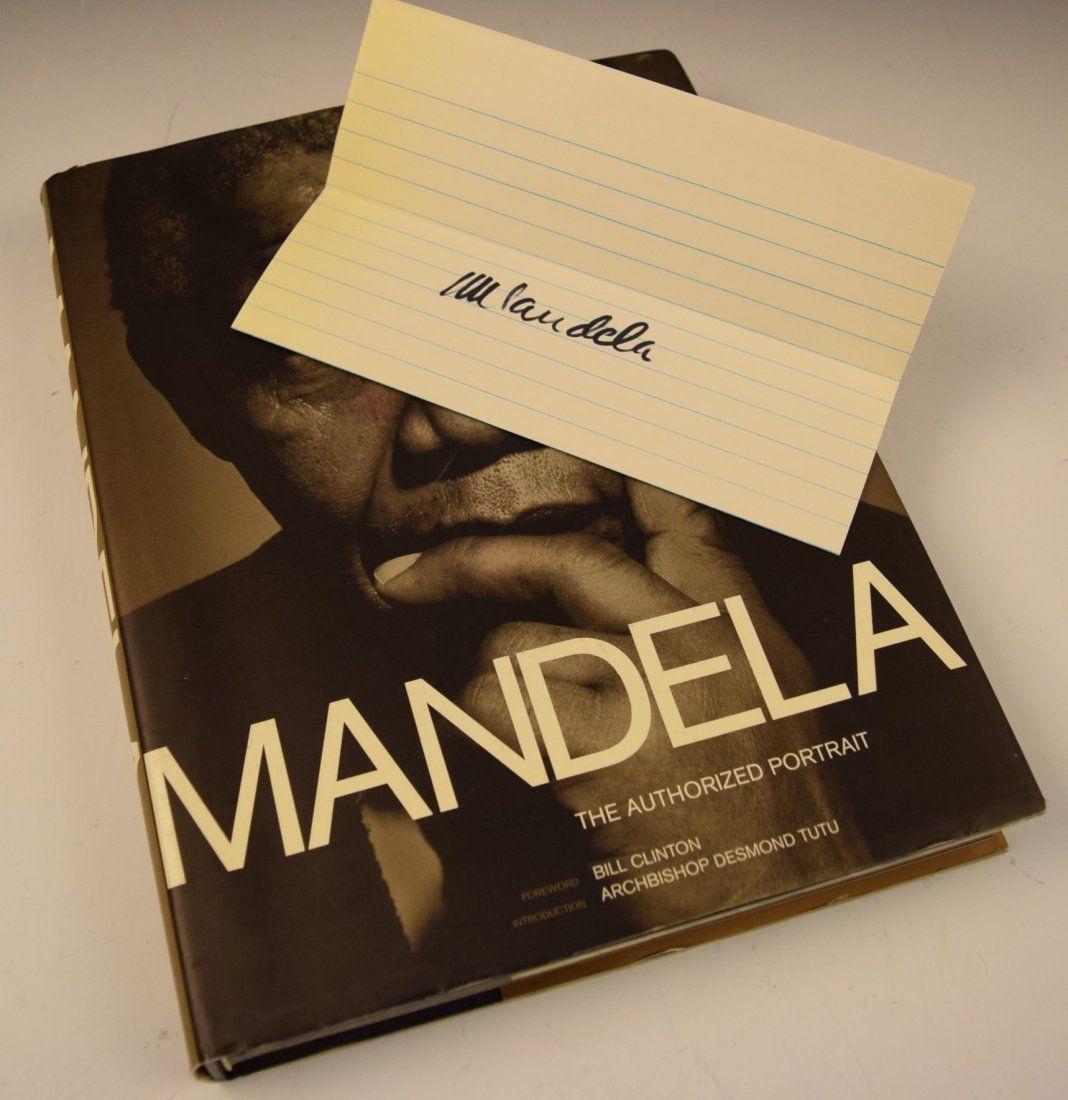 Nelson Mandela Signature and Book