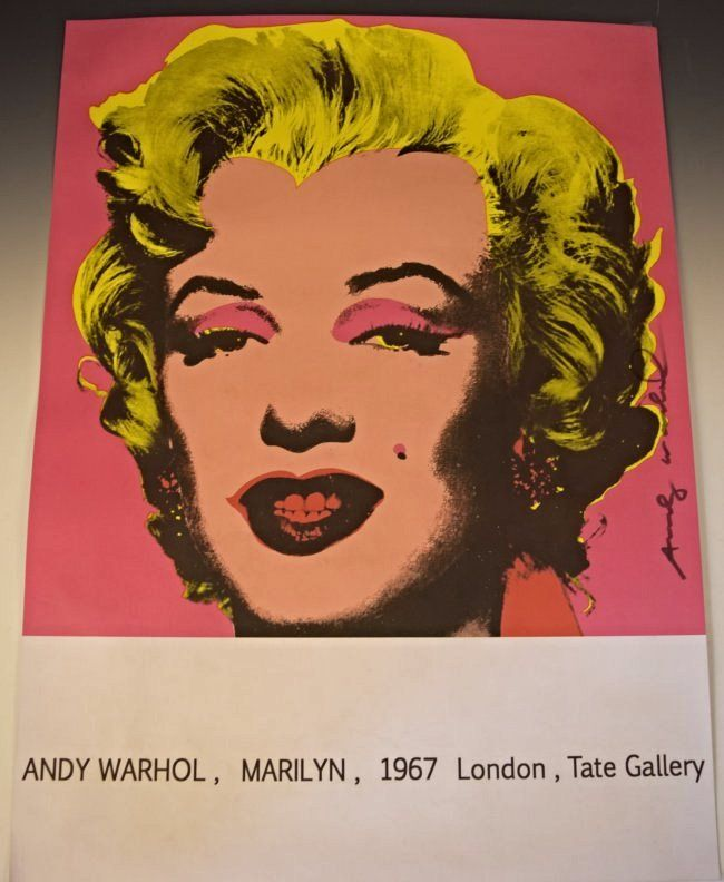 1967 Andy Warhol Marilyn Monroe Signed