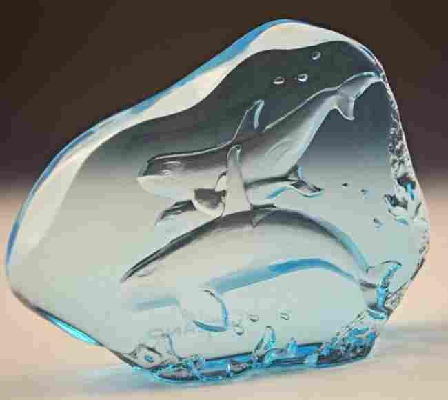 Robert Wyland Acrylic Marine Sculpture