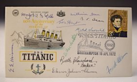 Titanic Survivors Signed Envelope