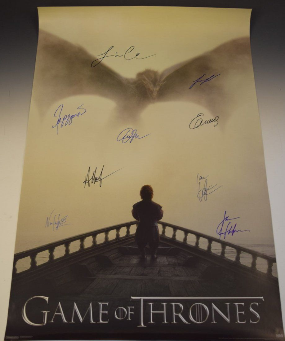 Game of Thrones Cast Signed Poster