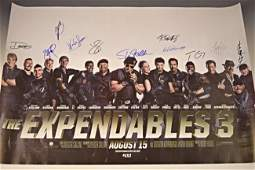 The Expendables Cast Signed Movie Poster