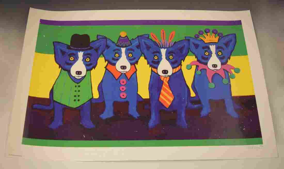 George Rodrigue Signed Screenprint