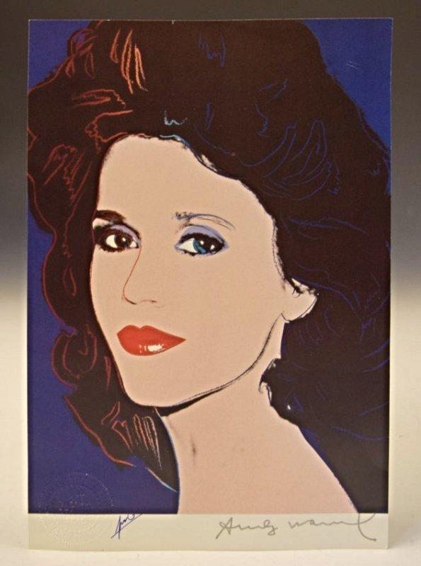Andy Warhol Signed Print