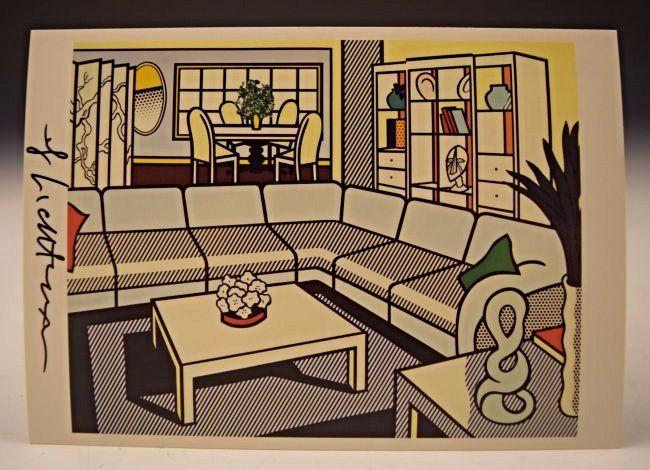 Roy Lichtenstein Signed Card
