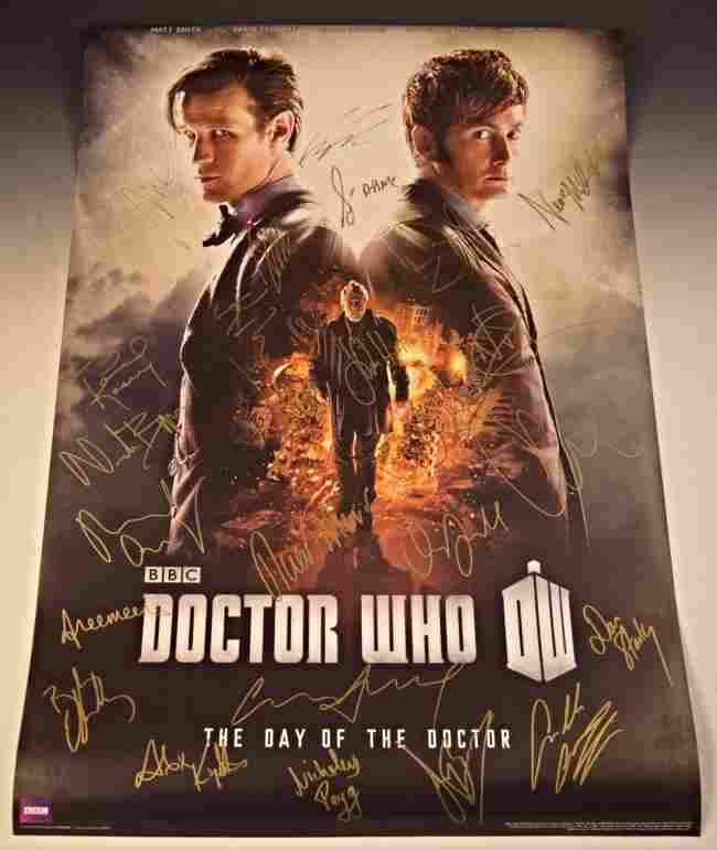 Doctor Who Cast Signed Movie Poster