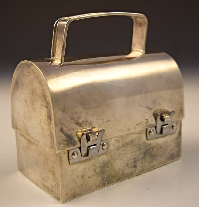 Vintage Cartier Sterling Silver Lunchbox