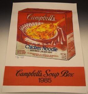 Andy Warhol Campbell's Soup Poster