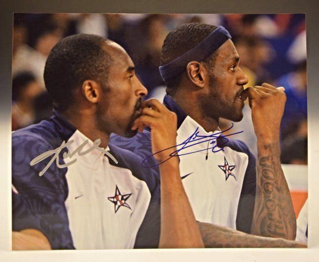 LeBron James, Kobe Bryant Signed Photo