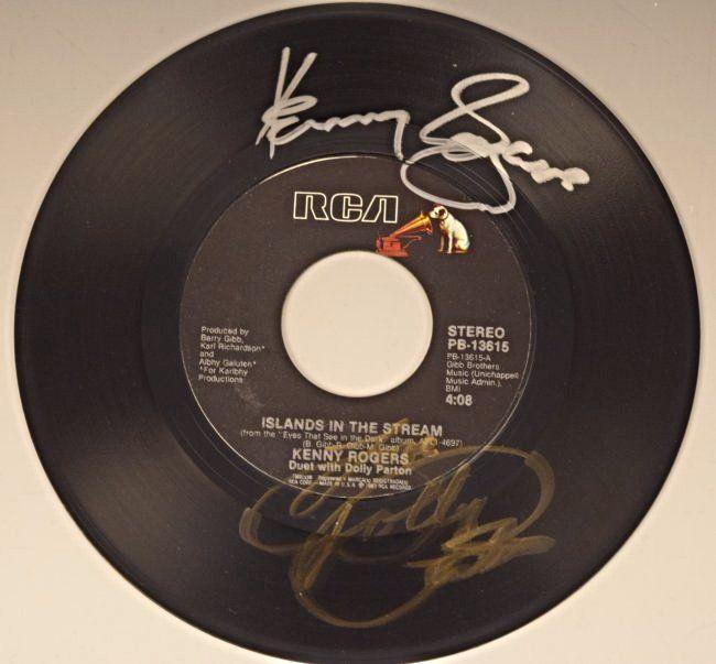 Dolly Parton/Kenny Rogers Autograph LP