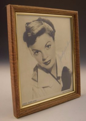 Judy Garland Signed Photograph