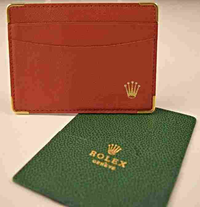Rolex Leather Card Holders
