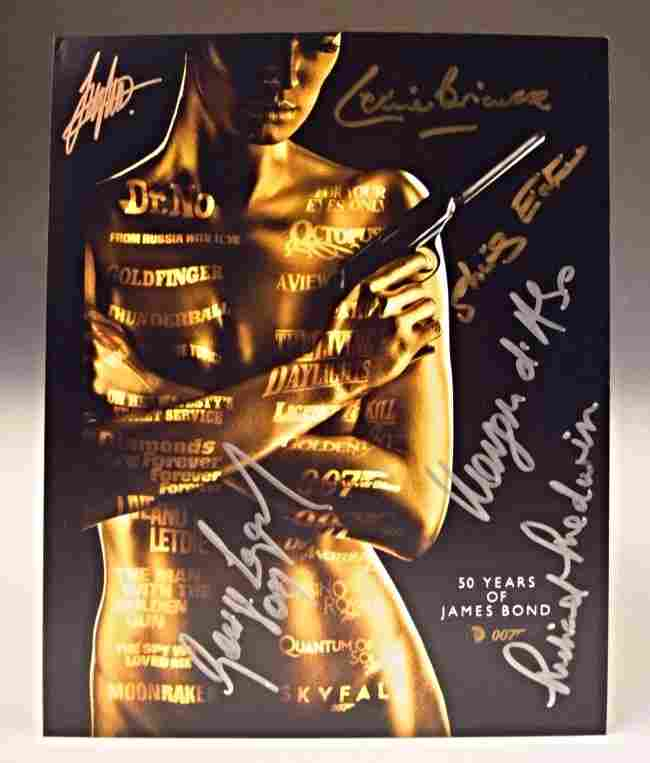 James Bond Signed Photo