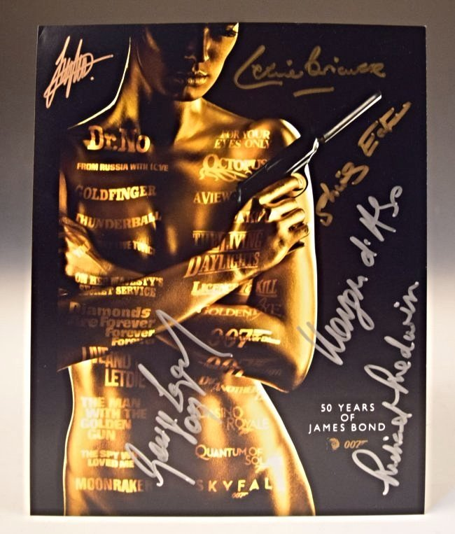 James Bond Signed Photo
