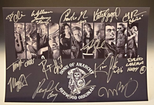 Sons of Anarchy Cast Signed Photo