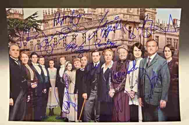 Downton Abbey Cast Signed Photo