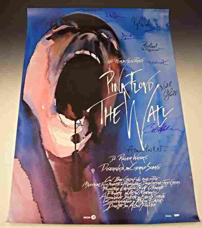 Pink Floyd The Wall Signed Poster