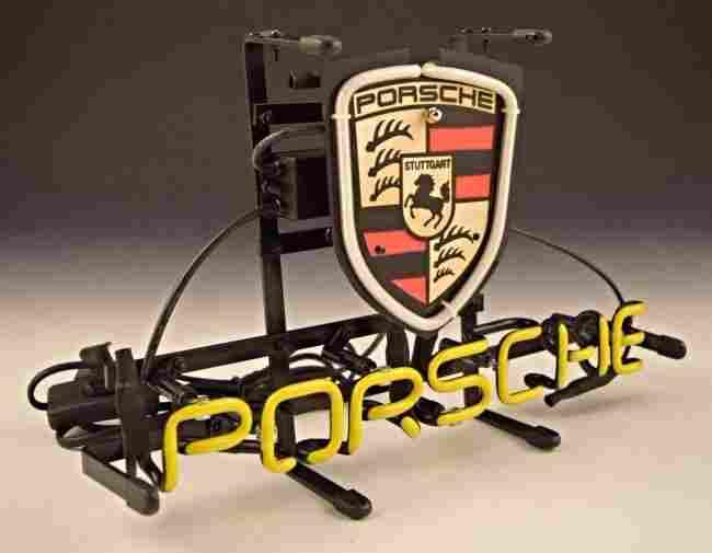 Porsche Display Light Sign