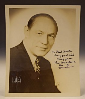 Hardeen Houdini Signed Photo