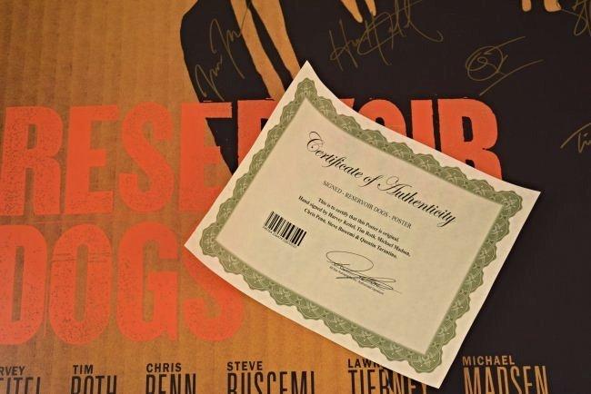 Reservoir Dogs Cast Signed Movie Poster - 3
