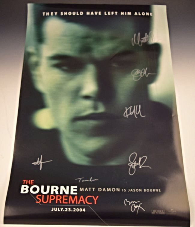 The Bourne Supremacy Cast Signed Movie Poster