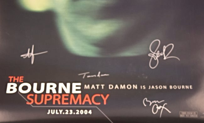 The Bourne Supremacy Cast Signed Movie Poster - 4