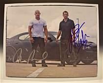 Vin Diesel, Paul Walker Signed Photo