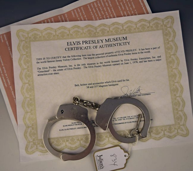 Elvis Presley Owned Handcuffs - 3