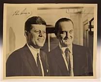 John F. Kennedy, Lyndon B. Johnson Signed Photograph